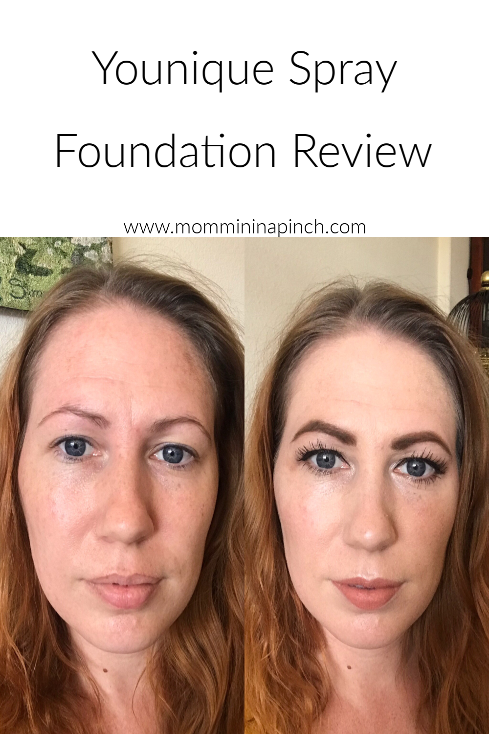 Younique Spray Foundation Review Mommin In A Pinch
